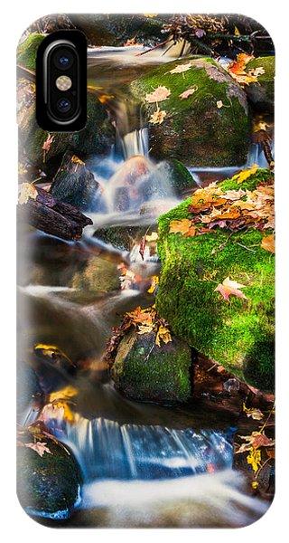 Fall Seasonal Water Cascade IPhone Case