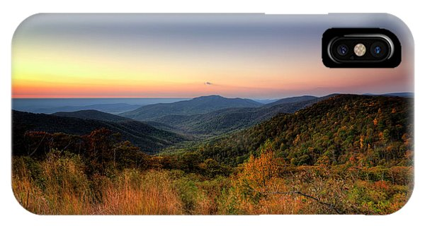 IPhone Case featuring the photograph Fall Sunrise by Ryan Wyckoff