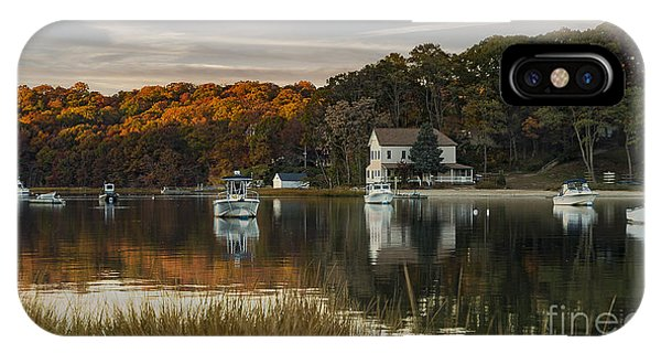 Fall Sunset In Centerport  IPhone Case