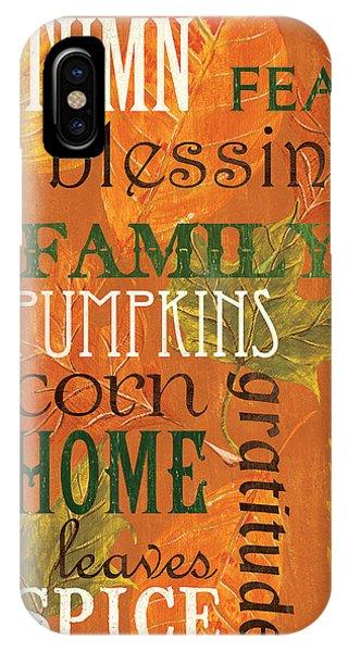 Dinner iPhone Case - Fall Typography 1 by Debbie DeWitt