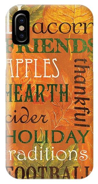 Pumpkin iPhone Case - Fall Typography 2 by Debbie DeWitt