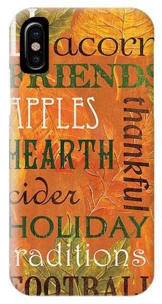 Dinner iPhone Case - Fall Typography 2 by Debbie DeWitt