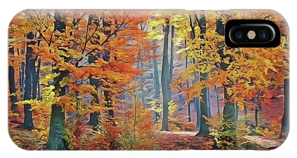 iPhone Case - Fall Woods by Harry Warrick