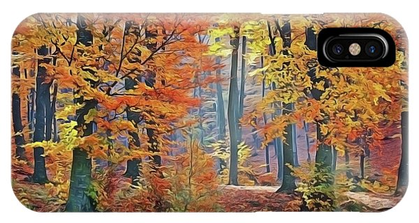 Fall Woods IPhone Case