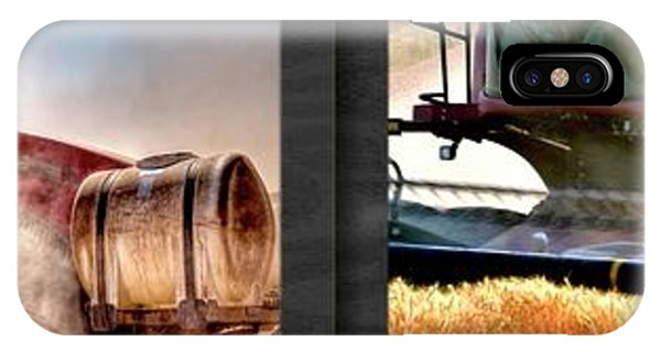 IPhone Case featuring the photograph Fall Work Harvest Collage 1 by Jerry Sodorff