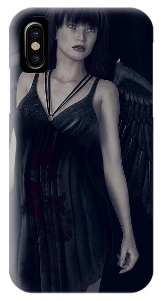 Fallen Angel - Dark And Gothic IPhone Case