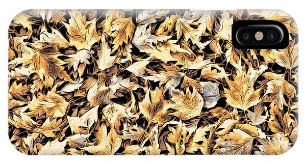Fallen Autumn Leaves IPhone Case