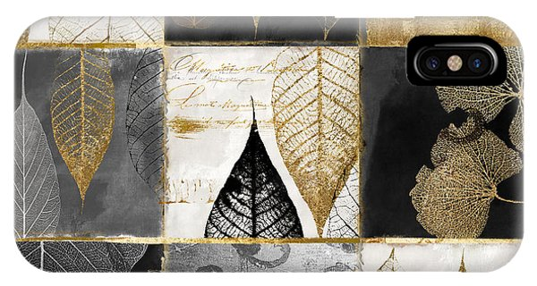 Silver And Gold iPhone Case - Fallen Gold Autumn Leaves by Mindy Sommers