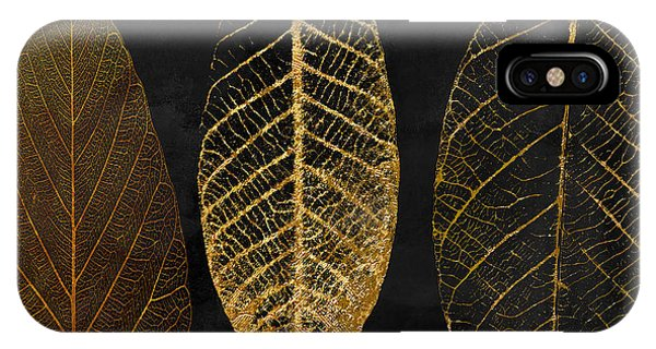 Decorative iPhone Case - Fallen Gold II Autumn Leaves by Mindy Sommers