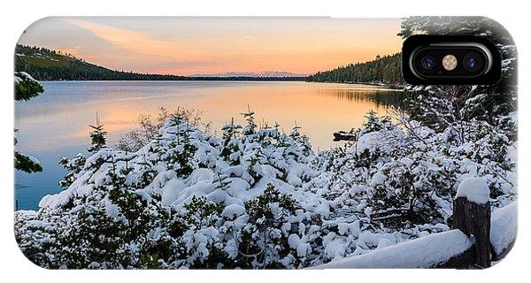 Fallen Leaf Lake IPhone Case