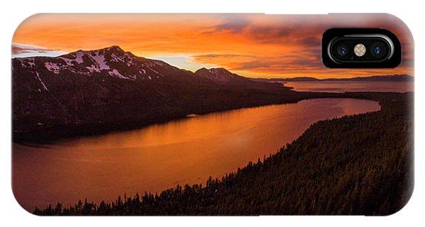 Fallen Leaf Lake Sunset Aerial By Brad Scott IPhone Case