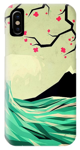 Waves iPhone Case - Falling In Love by Yetiland