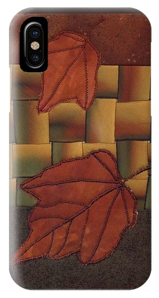 IPhone Case featuring the mixed media Falling Leaves by Linda Mae Olszanski