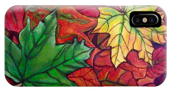 Falling Leaves I Painting IPhone Case
