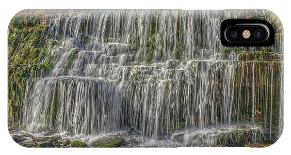 IPhone Case featuring the photograph Falling Water by Wanda Krack
