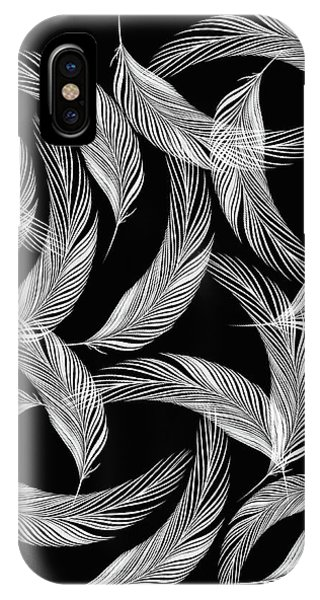 Falling White Feathers IPhone Case