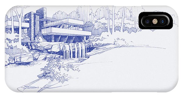 Fallingwater Blueprint IPhone Case