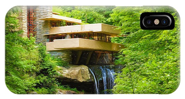 Fallingwater Painterly L IPhone Case