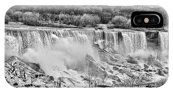 Falls Black And White IPhone Case