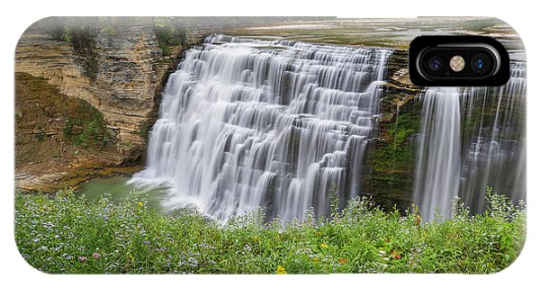 Autumn Flower Of Letchworth Middle Falls IPhone Case