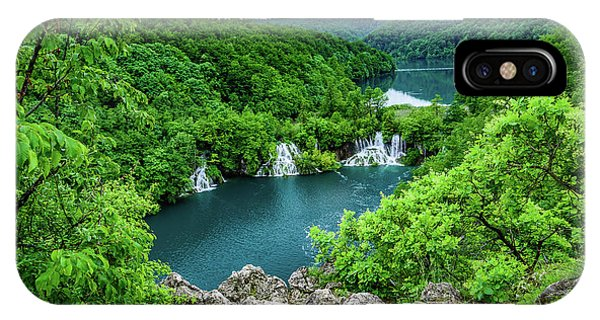 Falls From Above - Plitvice Lakes National Park, Croatia IPhone Case