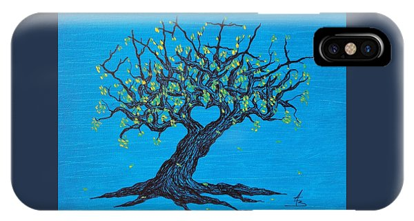 IPhone Case featuring the drawing Family Love Tree by Aaron Bombalicki