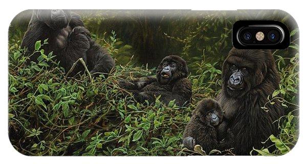 Family Of Gorillas IPhone Case