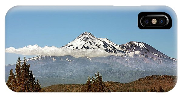 Family Portrait - Mount Shasta And Shastina Northern California IPhone Case