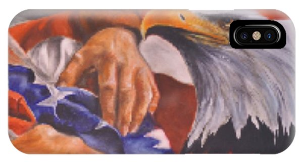 Family Receives Flag IPhone Case
