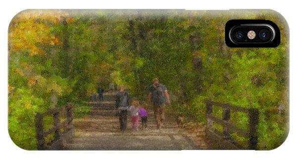 Family Walk At Borderland IPhone Case