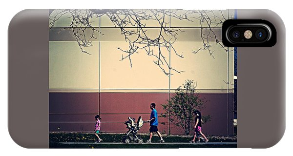 Family Walk To The Park IPhone Case