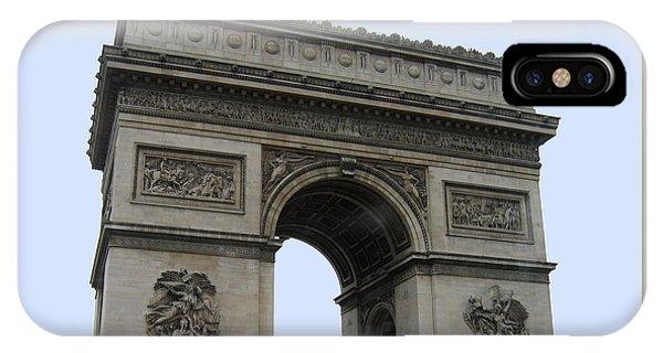 Famous Gate Of Paris - Arc De France IPhone Case