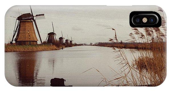 Famous Windmills At Kinderdijk, Netherlands IPhone Case