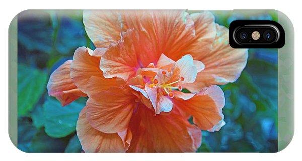 Fancy Peach Hibiscus IPhone Case