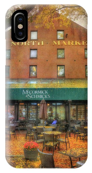 Faneuil Hall North Market In Falll IPhone Case