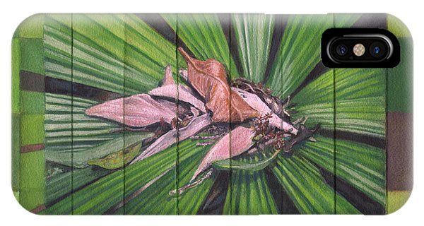 Far North Queensland iPhone Case - Fantail Palm Plateau - Flat Detail Section by Kerryn Madsen-Pietsch