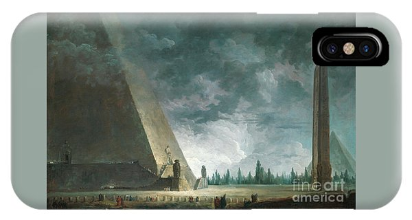 Shrouds iPhone Case - Fantaisie Egyptienne by Hubert Robert