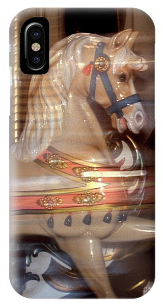 fantasy animals from the carousel - Proud Palomino IPhone Case