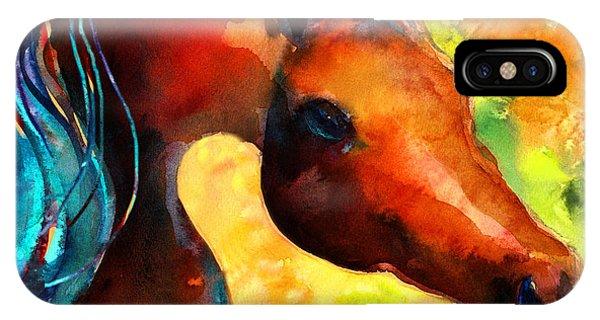 Watercolor Pet Portraits iPhone Case - Fantasy Arabian Horse by Svetlana Novikova