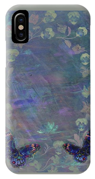 Fantasy Butterfly Painted Pansy IPhone Case