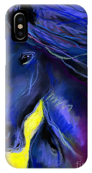 Fantasy Friesian Horse Painting Print IPhone Case