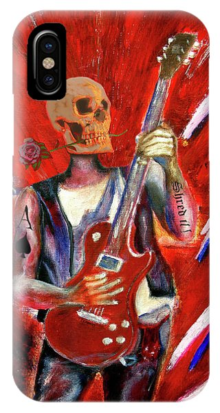 Fantasy Heavy Metal Skull Guitarist IPhone Case