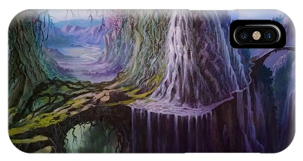 IPhone Case featuring the painting Fantasy Land by Rosario Piazza