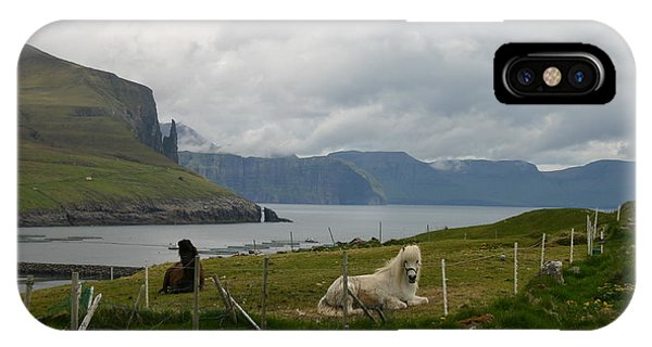 Faroe Islands Horses IPhone Case