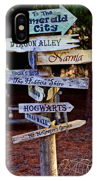Hogwarts iPhone Case - Fantasy Signs by Garry Gay