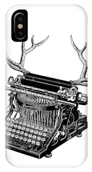 Stag iPhone Case - Fantasy Typewriter by Madame Memento
