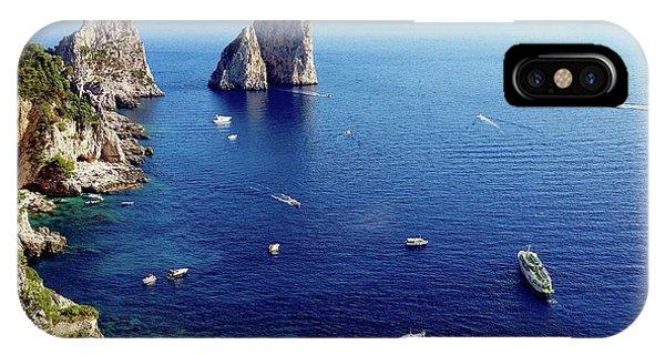 IPhone Case featuring the digital art Faraglioni Rocks, Isle Of Capri by Joseph Hendrix