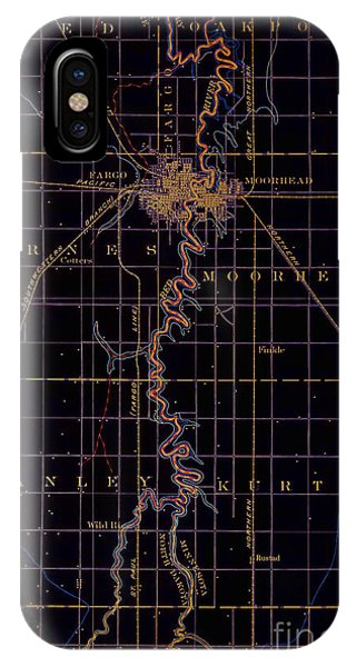 1895 iPhone Case - Fargo Old Map 1895 by Drawspots Illustrations