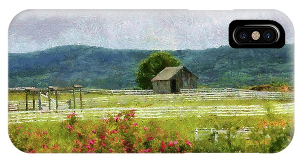 Middle Of Nowhere iPhone Case - Farm - Barn - Out In The Country  by Mike Savad