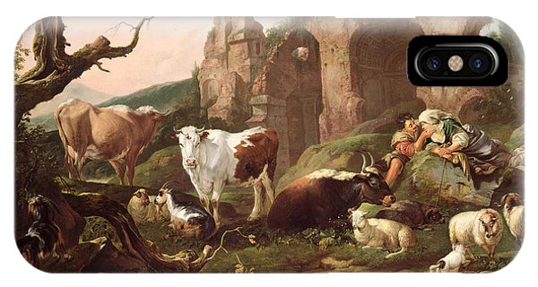 Farm Animals In A Landscape IPhone Case